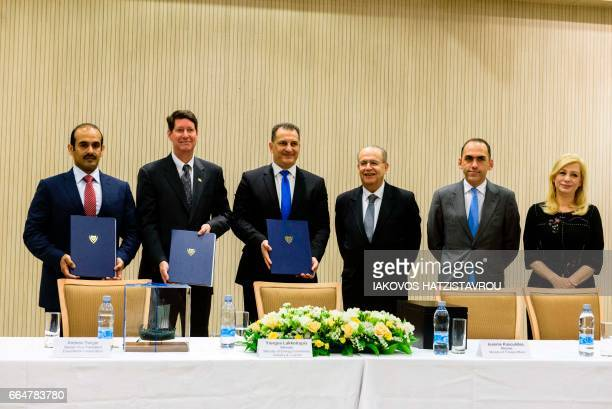 Saad Sherida AlKaabi President and of CEO Qatar Petroleum Andrew Swiger Senior Vice President of ExxonMobil Corporation Cyprus Energy Minister George...