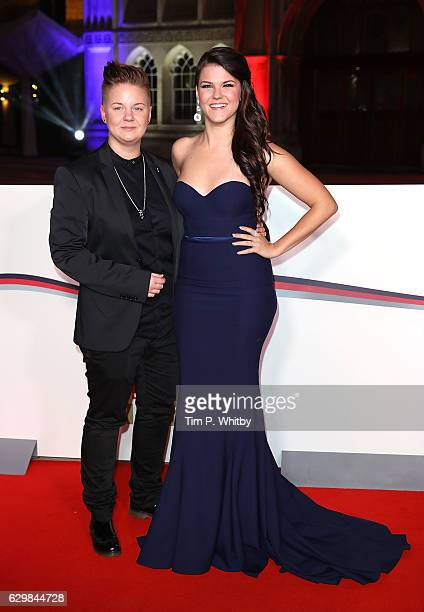 Saara Aalto and Meri Sopanen attend The Sun Military Awards at The Guildhall on December 14 2016 in London England