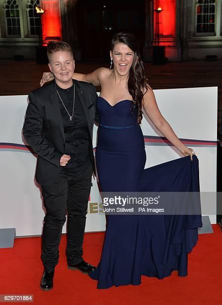 Saara Aalto and partner Meri Sopanen arriving at the Sun Military Awards at the Guildhall London