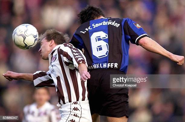 FUSSBALL 2 BUNDESLIGA 00/01 Saarbruecken 300301 1 FC SAARBRUECKEN FC ST PAULI Andre TRULSEN/PAULI Thomas WINKLHOFER/SAARBRUECKEN
