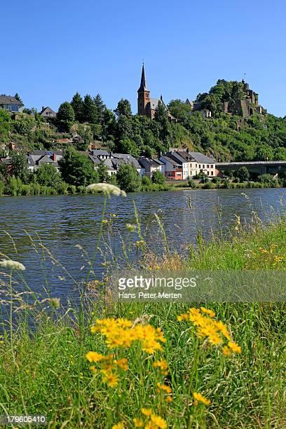 Saarburg, river Saar, old town, castle ruin