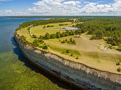 Saarema Island, Estonia: Panga or Mustjala cliff in the summer