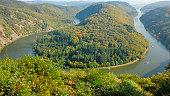"The ""Saarchleife"" in the Saar valley - Germany (Saarland) - one of the main"