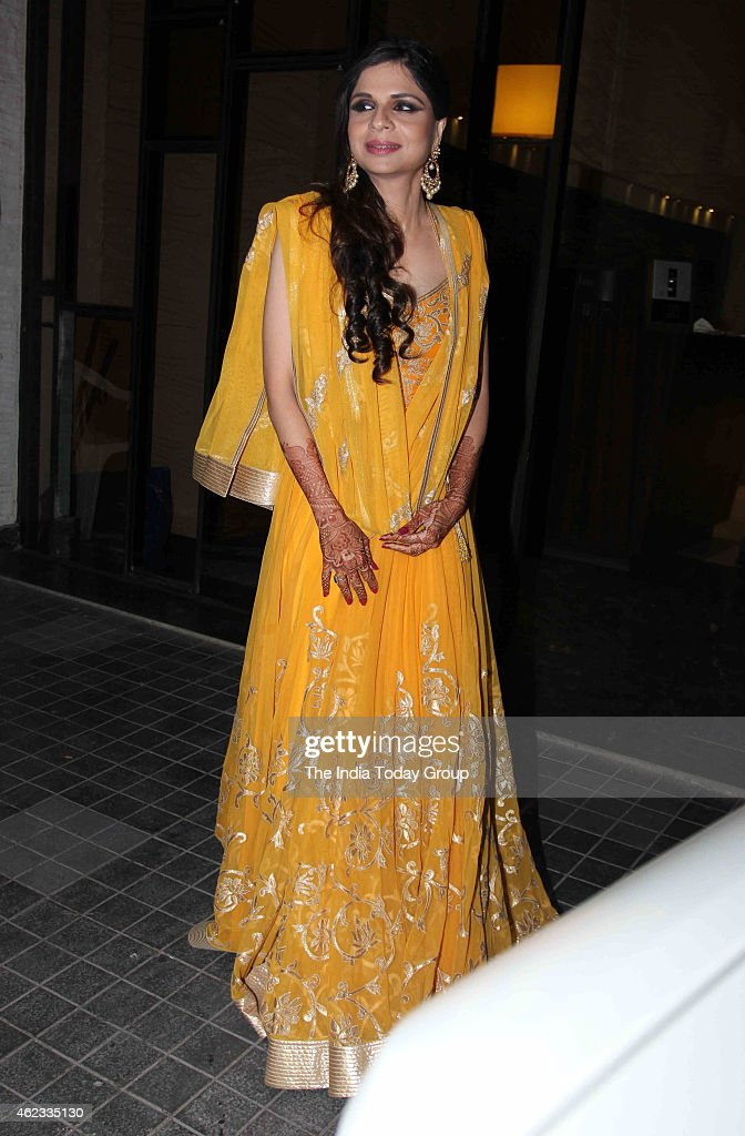 Saba Ali Khan at Soha Ali Khan and Kunal Khemus wedding reception in Mumbai