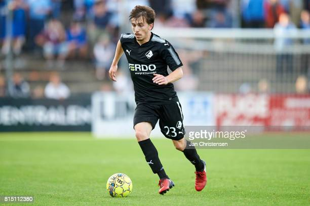 Saba Lobzhanidze of Randers FC in action during the Danish Alka Superliga match between SonderjyskE and Randers FC at Sydbank Park on July 15 2017 in...