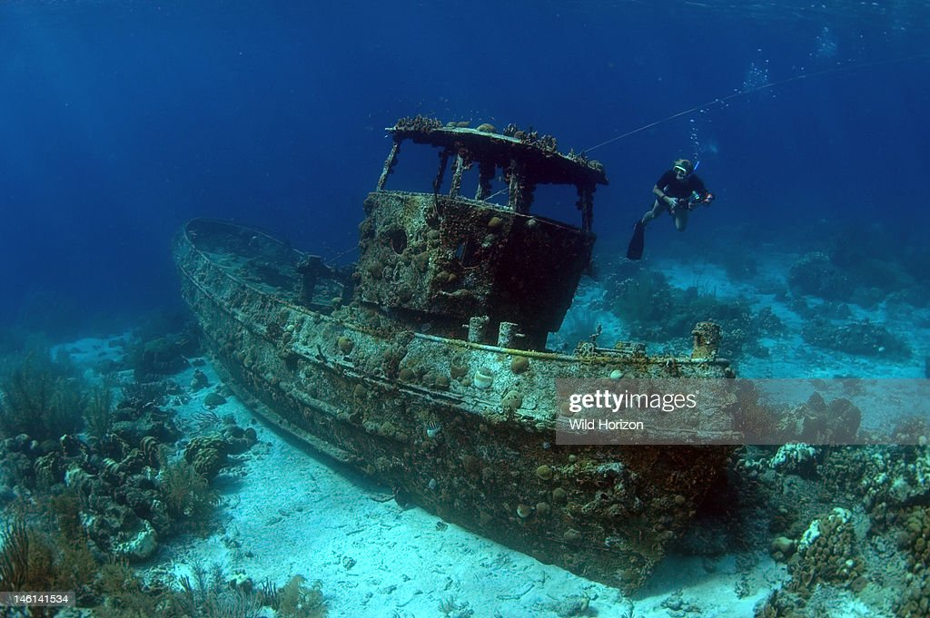 Saba tugboat artificial reef site Saba artificial reef dive site off of south side of Curacao in about 30 feet of water Saba divesite Curacao...