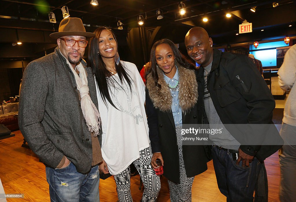 Sabai Burnett, Sari Baez, Keesha Johnson and Nigel Talley attend the Secret Circus Clothing Fashion Week Kick Off Event at the Limelight Marketplace on February 6, 2013 in New York City.