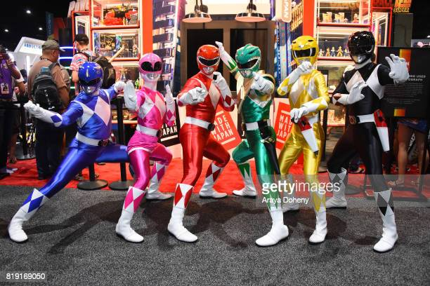 Saban's Power Rangers attend preview day at San Diego ComicCon 2017 at San Diego Convention Center on July 19 2017 in San Diego California