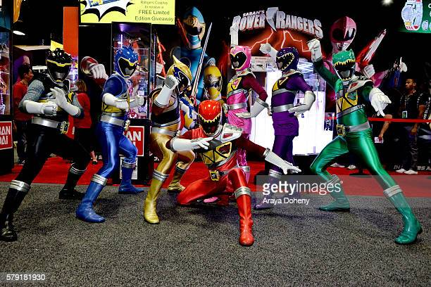 Saban''s Power Rangers Dino Super Charge visit San Diego ComicCon 2016 at San Diego Convention Center on July 22 2016 in San Diego California