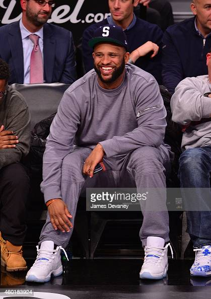 Sabathia attends the Brooklyn Nets vs Cleveland Cavaliers game at Barclays Center on December 8 2014 in New York City