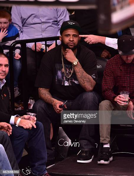 Sabathia attends the Los Angeles Clippers vs Brooklyn Nets game at Barclays Center on February 2 2015 in the Brooklyn borough of New York City