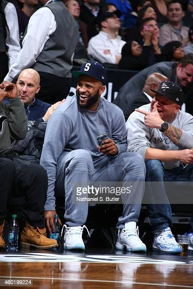Sabathia of the New York Yankees attends the game between the Cleveland Cavaliers and Brooklyn Nets on December 8 2014 at Barclays Center in Brooklyn...