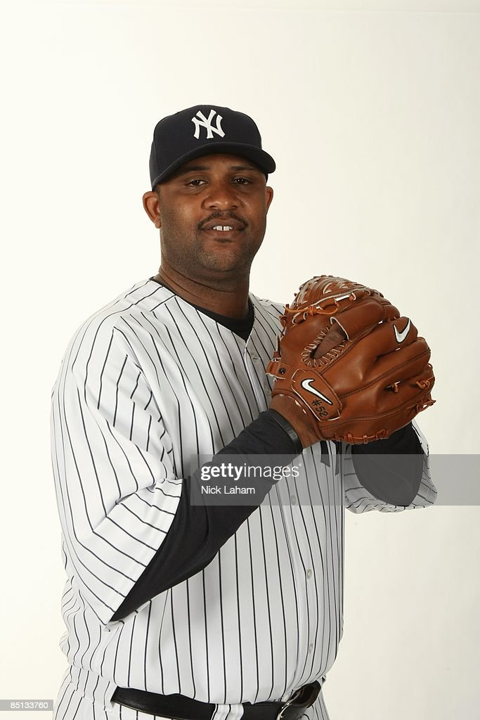CC Sabathia #52 of the New York Yankees poses during Photo Day on February 19, 2009 at Legends Field in Tampa, Florida.