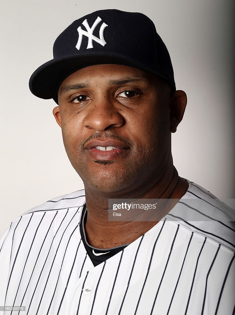 CC Sabathia #52 of the New York Yankees poses for a portrait on February 20, 2013 at George Steinbrenner Stadium in Tampa, Florida.