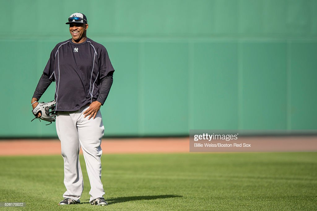 CC Sabathia #52 of the New York Yankees reacts before a game against the Boston Red Sox on April 29, 2016 at Fenway Park in Boston, Massachusetts .