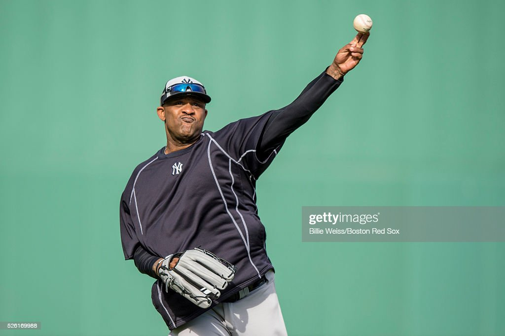 CC Sabathia #52 of the New York Yankees throws before a game against the Boston Red Sox on April 29, 2016 at Fenway Park in Boston, Massachusetts .