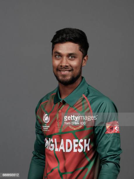 Sabbir Rahman of Bangladesh poses for a picture during the Bangladesh Portrait Session for the ICC Champions Trophy at Grand Hyatt on May 26 2017 in...