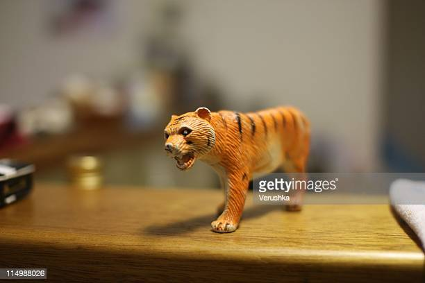 Saber tooth tiger on benchtop