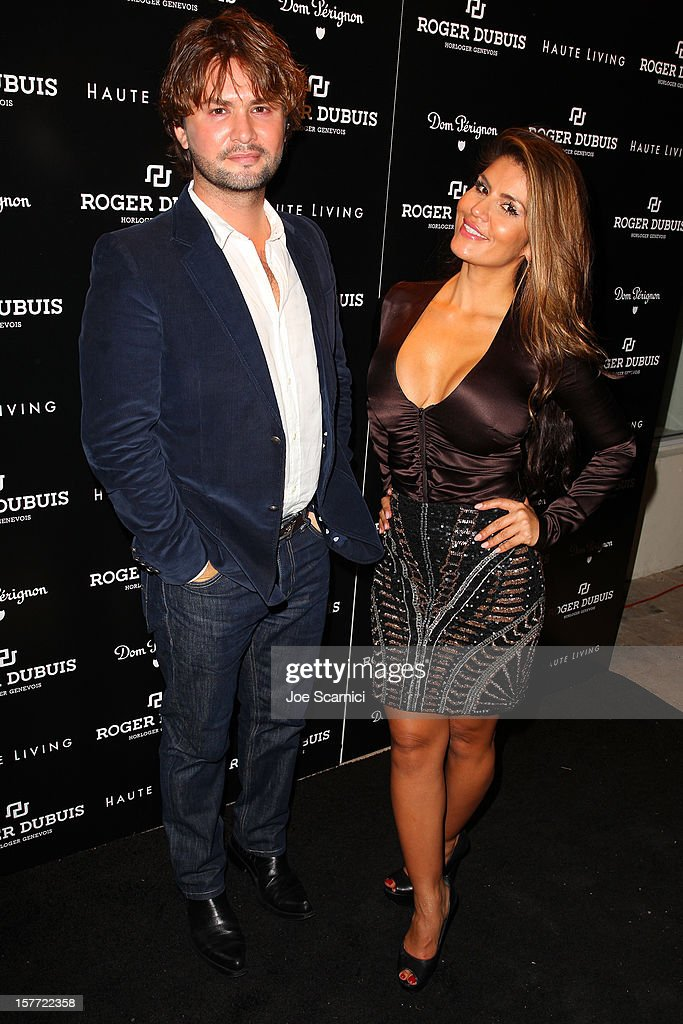 JR Sabet and Dazza Brigitte attend the Haute Living and Roger Dubuis dinner hosted by Daphne Guinness at Azur on December 5, 2012 in Miami Beach, Florida.