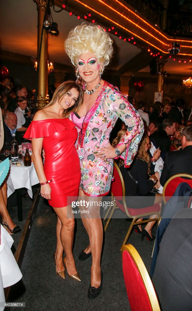 Sabia Boulahrouz and Drag Queen Olivia Jones attend the 'Nacht der Legenden' at Schmidts Tivoli on September 3, 2017 in Hamburg, Germany.