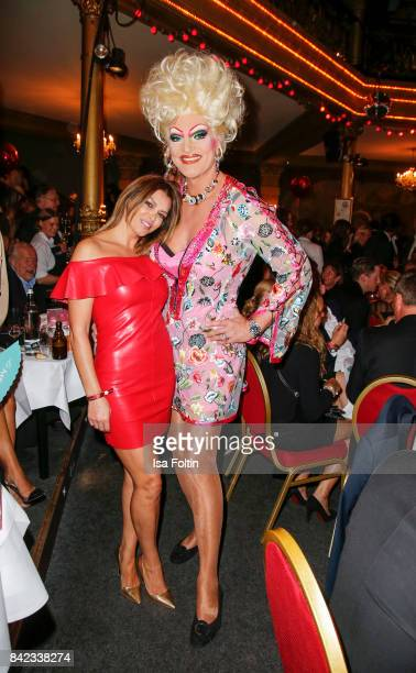 Sabia Boulahrouz and Drag Queen Olivia Jones attend the 'Nacht der Legenden' at Schmidts Tivoli on September 3 2017 in Hamburg Germany