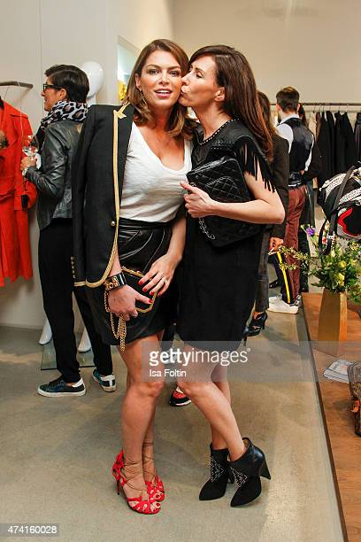 Sabia Boulahrouz and her sister Lydia Appelt attend the Petra Teufel GALA Fashion Night on May 20 2015 in Hamburg Germany
