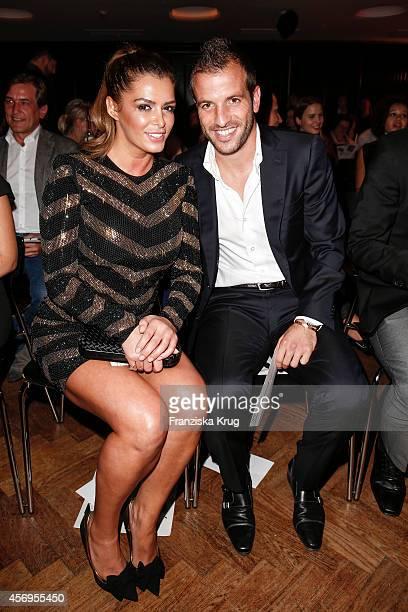 Sabia Boulahrouz and Rafael van der Vaart attend the Audi Fashion Award 2014 on October 09 2014 in Hamburg Germany