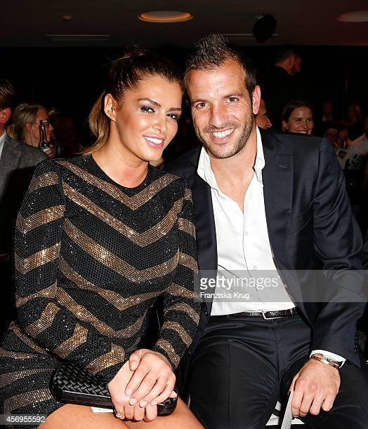 Sabia Boulahrouz and Rafael van der Vaart attend the Audi Fashion Award 2014 on October 09 2014 in Hamburg Germany