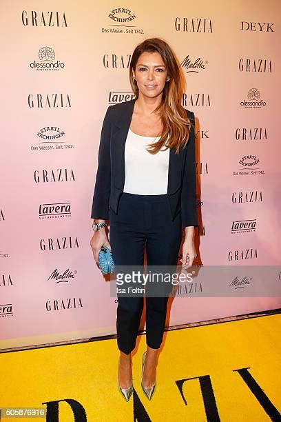 Sabia Boulahrouz attends the GRAZIA Pop Up Breakfast on January 20 2016 in Berlin Germany