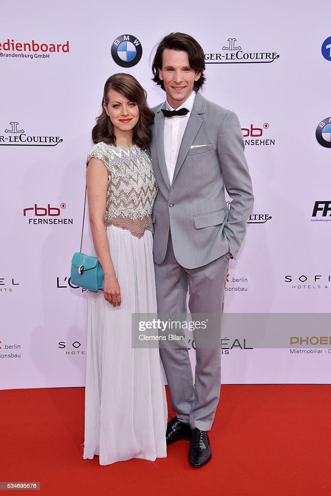 Sabin Tambrea and Alice Dwyer attend the Lola - German Film Award (Deutscher Filmpreis) on May 27, 2016 in Berlin, Germany.