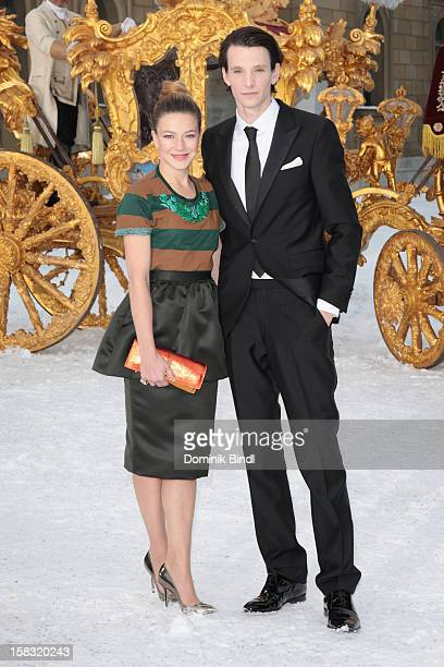 Sabin Tambrea and Hannah Herzsprung attend Ludwig II Germany Photocall at HVB Forum on December 13 2012 in Munich Germany