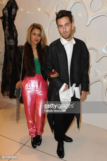 Sabina Emrit and Matthew Zorpas attend Carlos Miele and Vogue Italia Celebrate Limited Edition of TShirts Designed by Lapo Elkann and Bianca...