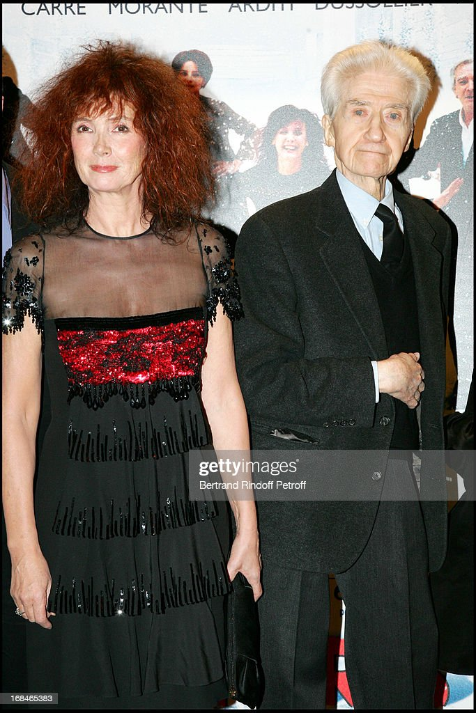 Sabine Azema, <a gi-track='captionPersonalityLinkClicked' href=/galleries/search?phrase=Alain+Resnais&family=editorial&specificpeople=1090412 ng-click='$event.stopPropagation()'>Alain Resnais</a> - Premiere of the movie 'Coeurs' (Hearts) at the Gaumont cinema on the Champs Elysees in Paris.