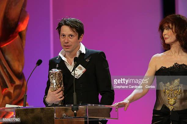 Sabine Azema and Mathieu Amalric at the 30th Cesar Ceremony held at the Chatelet theater in Paris