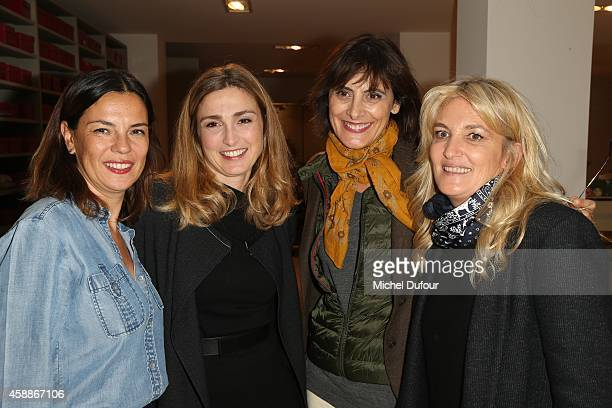 Sabine Brunner Julie Gayet Ines de la Fressange and guest attend the New Jewellery Collection Cocktail Party at Avenue Montaigne on November 12 2014...