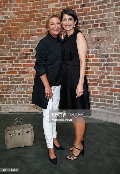 Sabine Christiansen and Dorothee Schumacher attend the Schumacher show during the MercedesBenz Fashion Week Spring/Summer 2015 at Sankt Elisabeth...