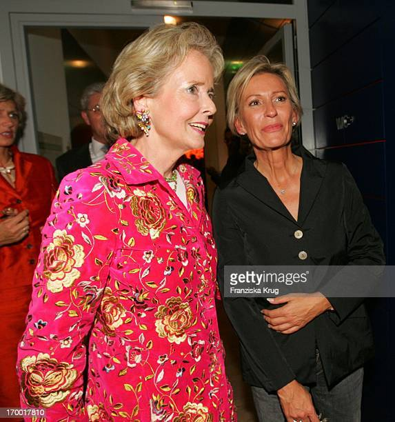 Sabine Christiansen and Isa Gräfin Von Hardenberg at Party At Bertelsmann Bertelsmann Unter Den Linden in Berlin