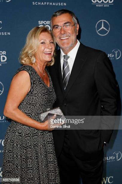 Sabine Christiansen and Norbert Medus attend the Laureus Sport for Good Night 2014 at Bayerischer Hof on September 19 2014 in Munich Germany