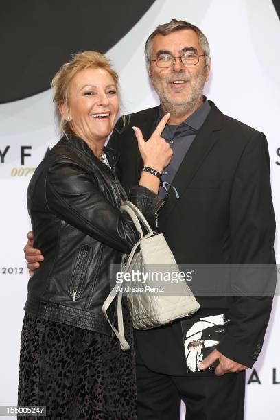 Sabine Christiansen and partner Norbert Medus attend the 'Skyfall' Germany premiere at Theater am Potsdamer Platz on October 30 2012 in Berlin Germany