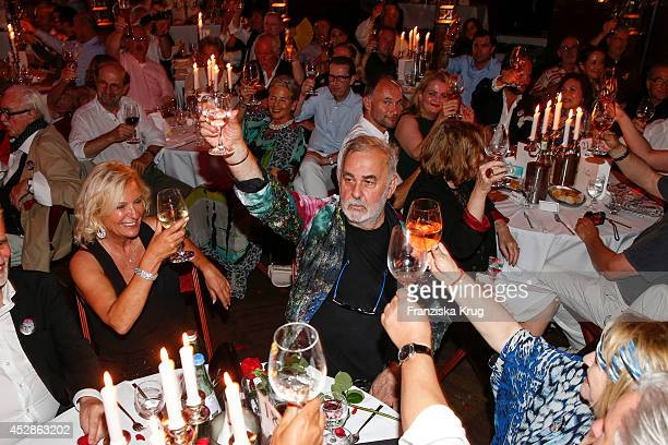 Sabine Christiansen and Udo Walz attend the Udo Walz Celebrates His 70th Birthday at BAR jeder Vernunft on July 28 2014 in Berlin Germany