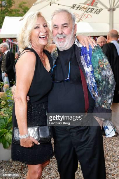 Sabine Christiansen and Udo Walz attend Udo Walz's 70th Birthday celebration at BAR jeder Vernunft on July 28 2014 in Berlin Germany