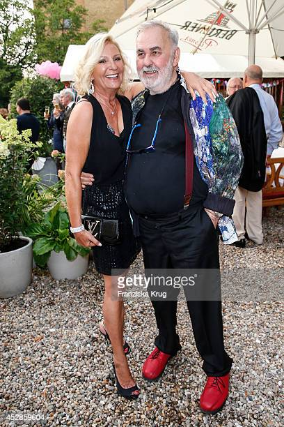 Sabine Christiansen and Udo Walz attend Udo Walz's 70th Birthday celebration at BAR jeder Vernunft on July 28 2014 in Berlin Germany
