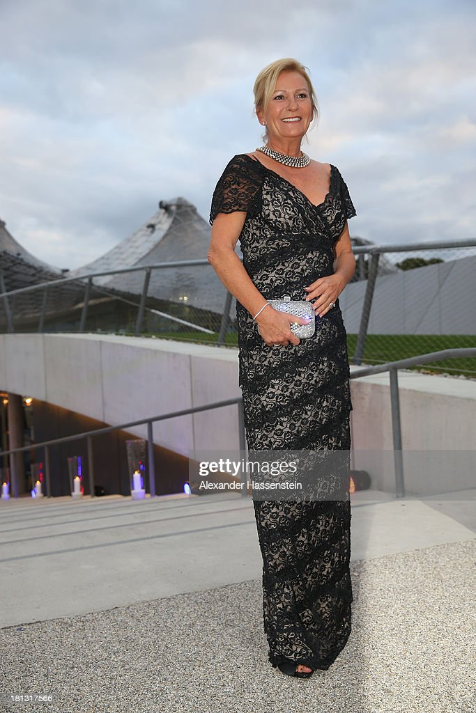 Sabine Christiansen arrives at the red carpet prior the Laureus Sport for Good Night 2013 at Munich Olympiahalle on September 20, 2013 in Munich, Germany.
