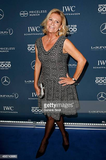 Sabine Christiansen attends the Laureus Sport for Good Night 2014 at Bayerischer Hof on September 19 2014 in Munich Germany