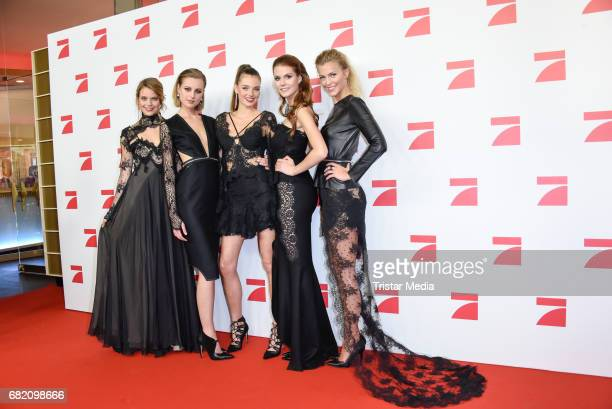 Sabine Fischer Maja Manczak Celine Badman Lynn Petertonkoker Serlina Hohmann GNTM Top 8 finalists attend the premiere of the television show 'This Is...