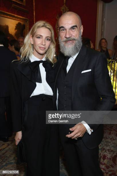 Sabine Getty and Giampiero Bodino attend Giampiero Bodino's 'Beauty Is My Favourite Colour' cocktails and dinner evening at Spencer House on October...