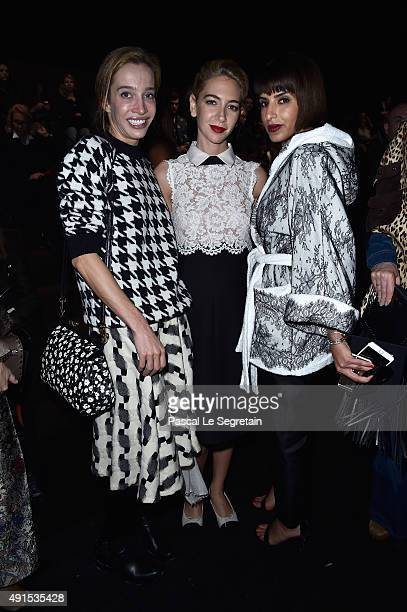 Sabine Getty and guests attend the Valentino show as part of the Paris Fashion Week Womenswear Spring/Summer 2016 on October 6 2015 in Paris France