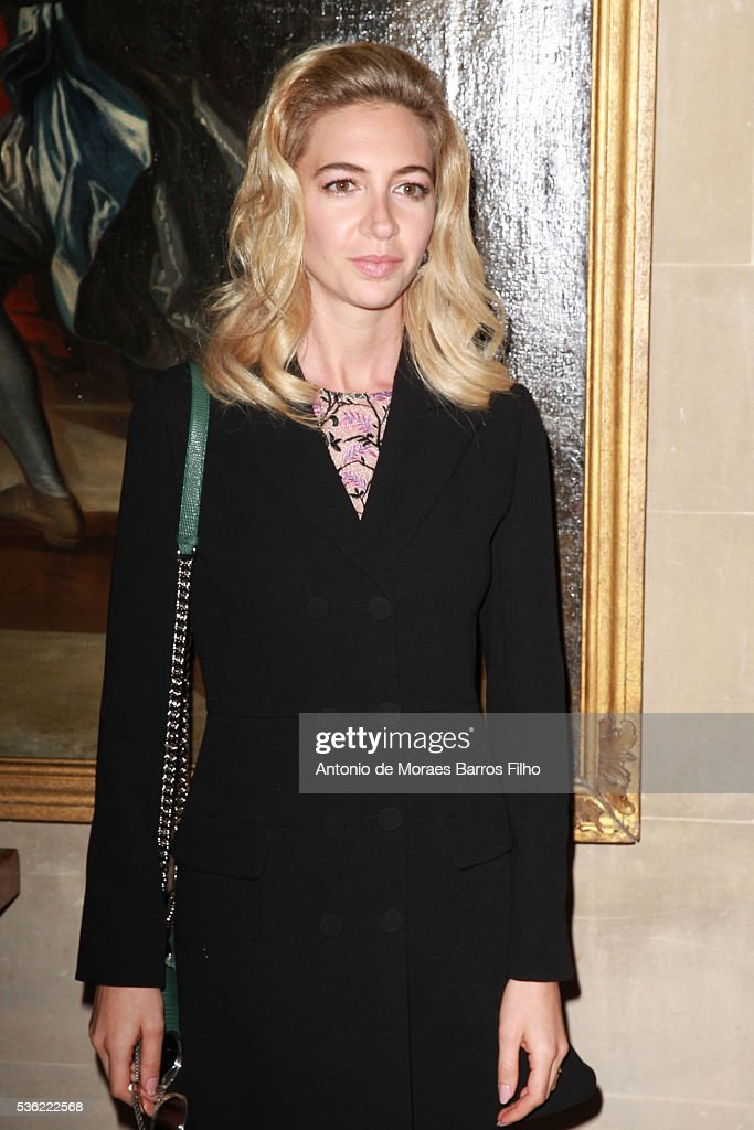 Sabine Getty attends Christian Dior showcases its spring summer 2017 cruise collection at Blenheim Palace on May 31, 2016 in Woodstock, England.