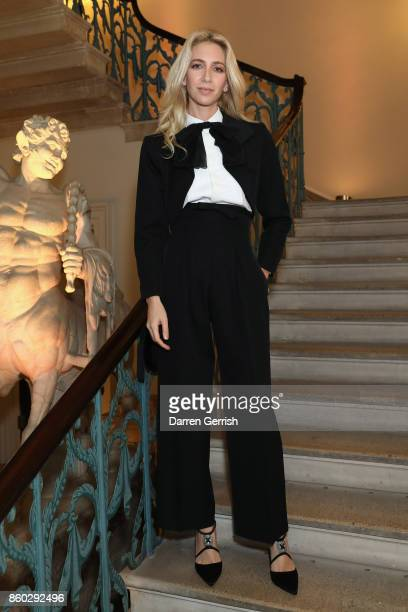 Sabine Getty attends Giampiero Bodino's 'Beauty Is My Favourite Colour' cocktails and dinner evening at Spencer House on October 11 2017 in London...