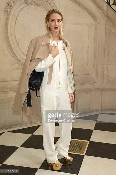 Sabine Getty attends the Christian Dior show as part of the Paris Fashion Week Womenswear Spring/Summer 2017 on September 30 2016 in Paris France